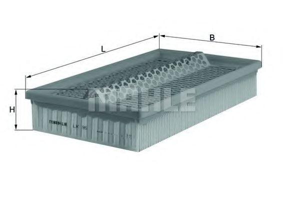 Фильтры воздуха салона автомобиля Воздушный фильтр KNECHT арт. LX95