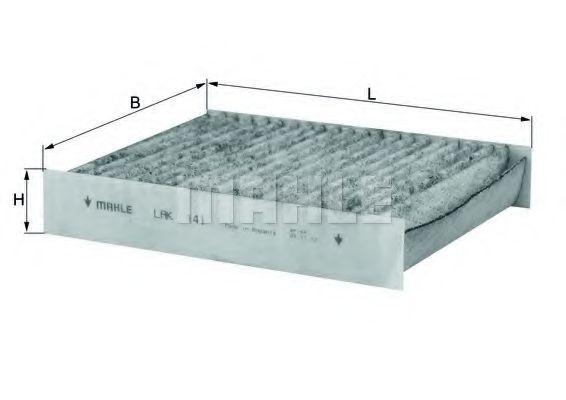 Фильтры прочие Фильтр, воздух во внутренном пространстве KNECHT арт. LAK141