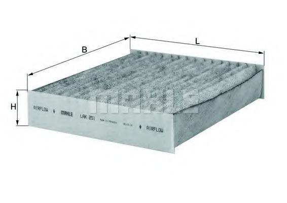 Фильтры прочие Фильтр, воздух во внутренном пространстве KNECHT арт. LAK251