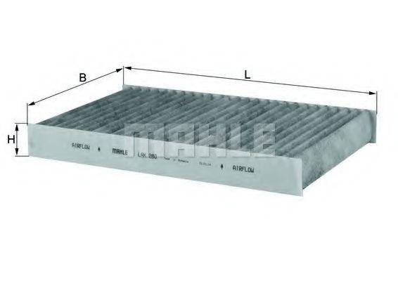 Фильтры прочие Фильтр, воздух во внутренном пространстве KNECHT арт. LAK280
