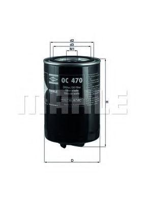 Фильтры масляные Масляный фильтр KNECHT арт. OC470