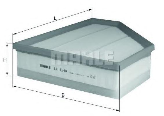 Фильтры воздуха салона автомобиля Воздушный фильтр KNECHT арт. LX1640