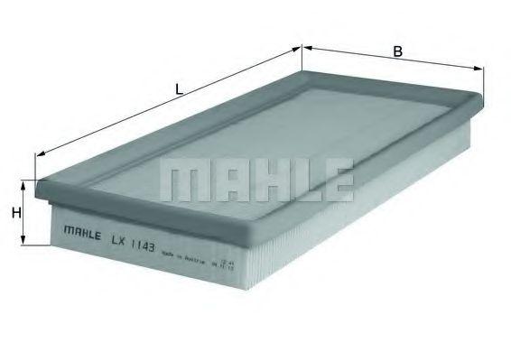 Фильтры воздуха салона автомобиля Воздушный фильтр KNECHT арт. LX1143