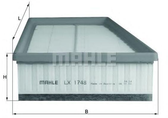 Фильтры воздуха салона автомобиля Воздушный фильтр KNECHT арт. LX1748