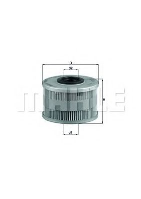 Фильтры топливные Топливный фильтр KNECHT арт. KX79D