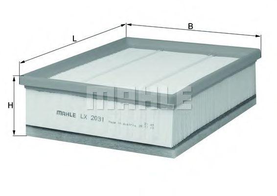 Фильтры воздуха салона автомобиля Воздушный фильтр KNECHT арт. LX2031