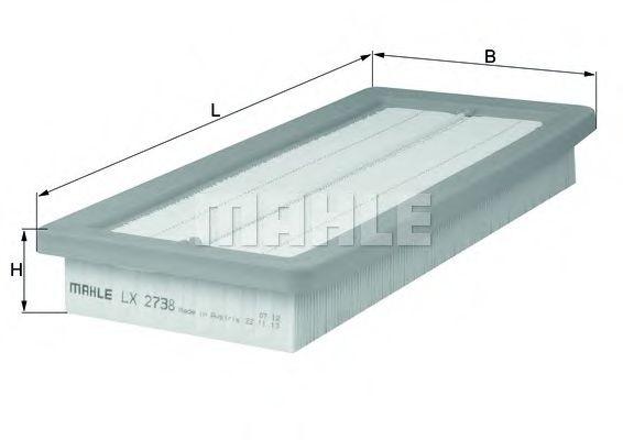 Фильтры воздуха салона автомобиля Воздушный фильтр KNECHT арт. LX2738
