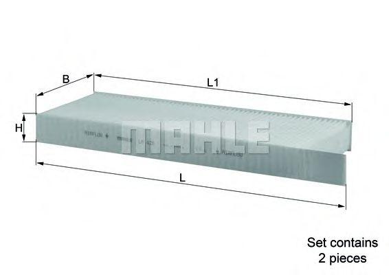 Фильтры прочие Фильтр, воздух во внутренном пространстве KNECHT арт. LA428S