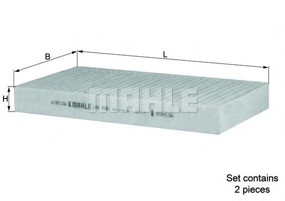Фильтры прочие Фильтр, воздух во внутренном пространстве KNECHT арт. LAK426S