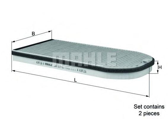 Фильтры прочие Фильтр, воздух во внутренном пространстве KNECHT арт. LAK613S