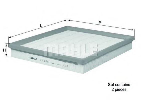 Фильтры воздуха салона автомобиля Воздушный фильтр KNECHT арт. LX1264S