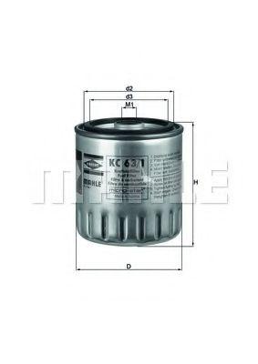 Фильтры топливные Топливный фильтр KNECHT арт. KC631D