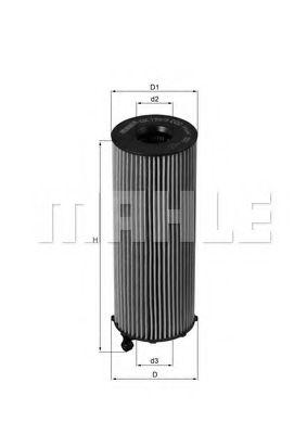 Фильтры масляные Масляный фильтр KNECHT арт. OX1963D