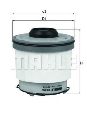 Фильтры топливные Топливный фильтр KNECHT арт. KX385D
