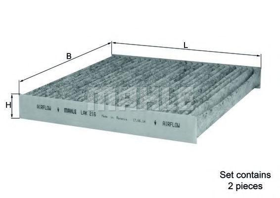 Фильтры прочие Фильтр, воздух во внутренном пространстве KNECHT арт. LAK216