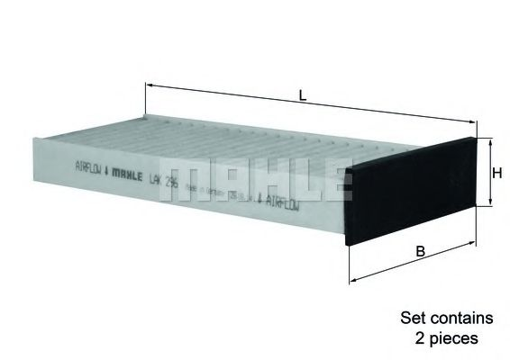 Фильтры прочие Фильтр, воздух во внутренном пространстве KNECHT арт. LAK296S