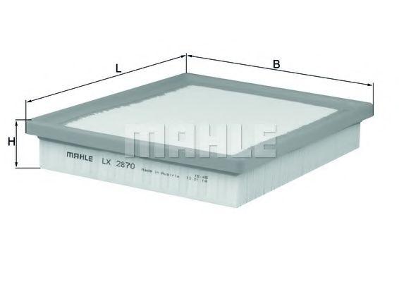 Фильтры воздуха салона автомобиля Воздушный фильтр KNECHT арт. LX2870