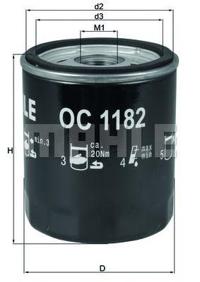 Масляный фильтр KNECHT арт. OC1182