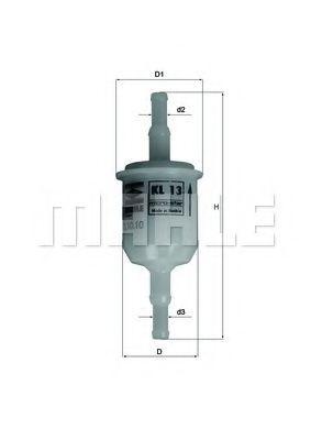 Топливный фильтр KNECHT арт. KL13OF