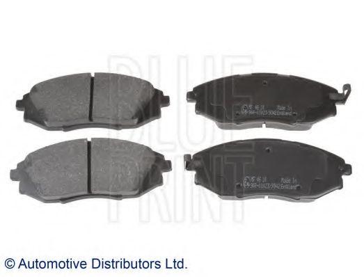 Комплект тормозных колодок, дисковый тормоз BLUEPRINT арт. ADG042115