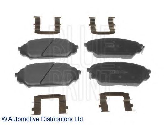 Комплект тормозных колодок, дисковый тормоз BLUEPRINT арт. ADG042121
