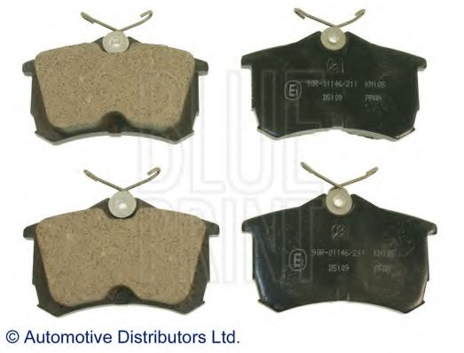 Комплект тормозных колодок, дисковый тормоз BLUEPRINT арт. ADH24257