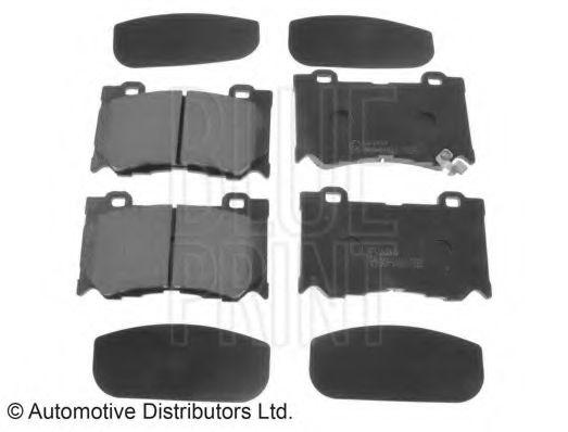 Комплект тормозных колодок, дисковый тормоз BLUEPRINT арт. ADN142148