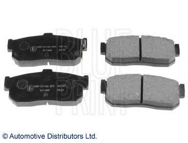 Комплект тормозных колодок, дисковый тормоз BLUEPRINT арт.