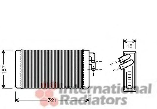 Теплообменник, отопление салона VANWEZEL арт. 03006052