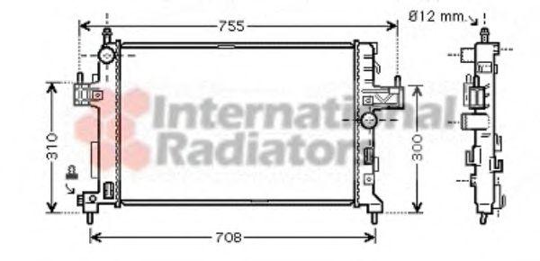 Радиатор, охлаждение двигателя VANWEZEL арт. 37002380