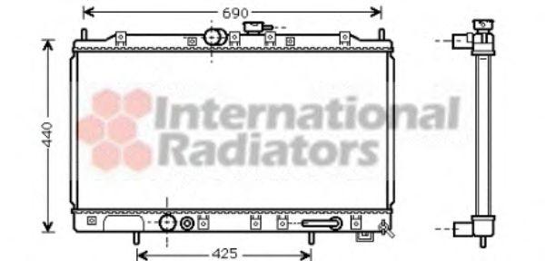 Радиатор, охлаждение двигателя VANWEZEL арт. 32002123