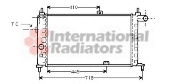 Радиатор, охлаждение двигателя VANWEZEL арт. 37002066