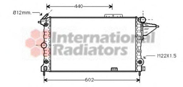 Радиатор, охлаждение двигателя VANWEZEL арт. 37002120