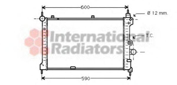 Радиатор, охлаждение двигателя VANWEZEL арт. 37002127