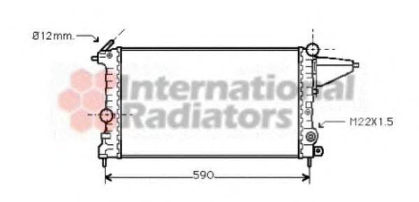 Радиатор, охлаждение двигателя VANWEZEL арт. 37002161