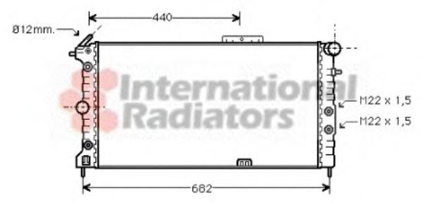 Радиатор, охлаждение двигателя VANWEZEL арт. 37002173