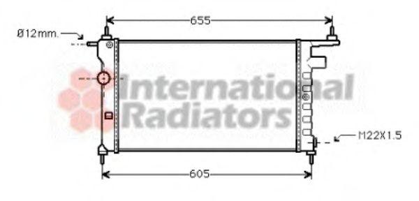 Радиатор, охлаждение двигателя VANWEZEL арт. 37002183