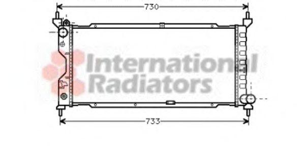 Радиатор, охлаждение двигателя VANWEZEL арт. 37002185