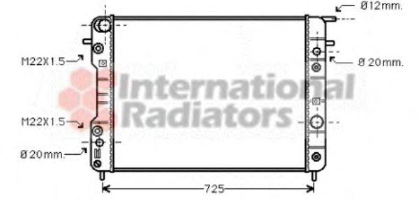 Радиатор, охлаждение двигателя VANWEZEL арт. 37002193