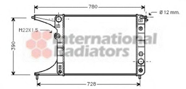 Радиатор, охлаждение двигателя VANWEZEL арт. 37002201