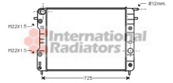 Радиатор, охлаждение двигателя VANWEZEL арт. 37002202