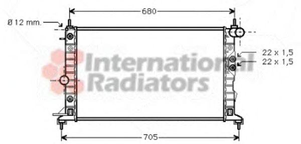 Радиатор, охлаждение двигателя VANWEZEL арт. 37002220