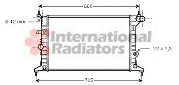 Радиатор, охлаждение двигателя VANWEZEL арт. 37002242