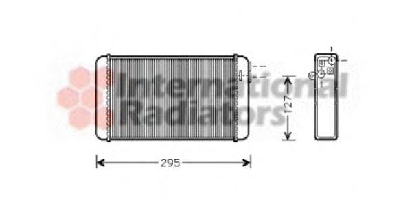 Теплообменник, отопление салона VANWEZEL арт. 37006116