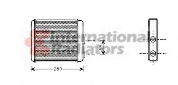 Теплообменник, отопление салона VANWEZEL арт.