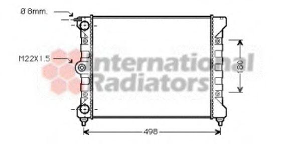 Радиатор, охлаждение двигателя VANWEZEL арт. 58002039