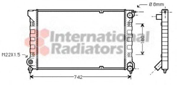 Радиатор, охлаждение двигателя VANWEZEL арт. 58002041