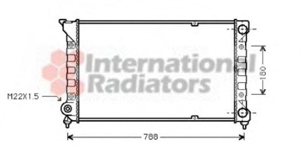 Радиатор, охлаждение двигателя VANWEZEL арт. 58002066