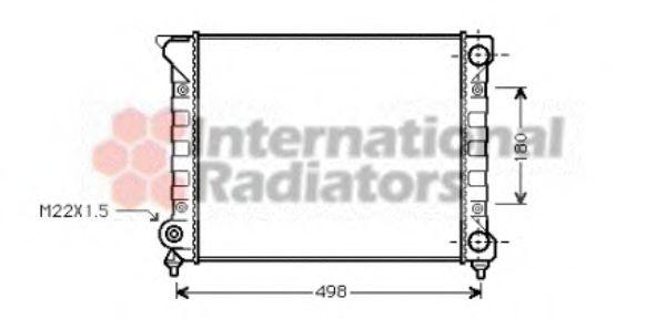 Радиатор, охлаждение двигателя VANWEZEL арт. 58002070