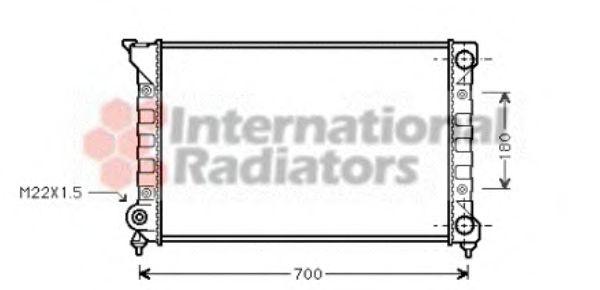 Радиатор, охлаждение двигателя VANWEZEL арт. 58002072